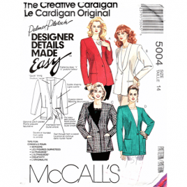 mccalls 5004 jacket sewing pattern