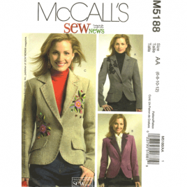 mccalls 5188 lined jacket sewing pattern
