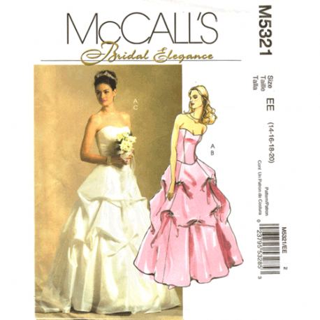 mccalls 5321 bridal gown sewing pattern
