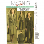 mccalls 5481 perfect suit sewing pattern - jacket-skirt-pants