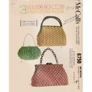 McCalls 6750 vintage smocked handbag pattern