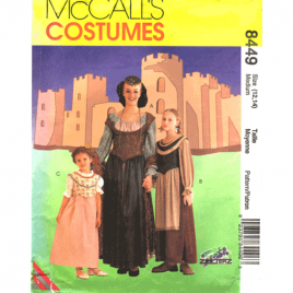 mccalls 8449 medieval costume sewing pattern