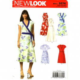 new look 6674 wrap dress sewing pattern
