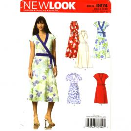 new look 6674 wrap dress sewing pattern
