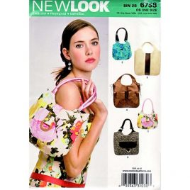 New Look 6738 handbag sewing pattern