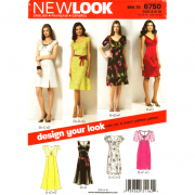 new look 6750 empire dress sewing pattern