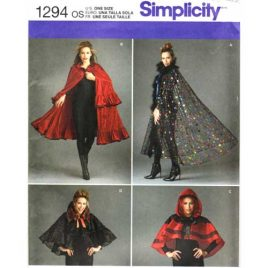 simplicity 1294 long and short cape sewing pattern