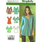 simplicity 3624 empire top sewing pattern