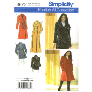 simplicity 3672 plus size jacket or coat sewing pattern