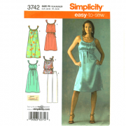 simplicity 3742 strappy dress sewing pattern
