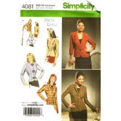simplicity 4081 retro jacket sewing pattern