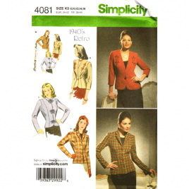 simplicity 4081 retro jacket sewing pattern