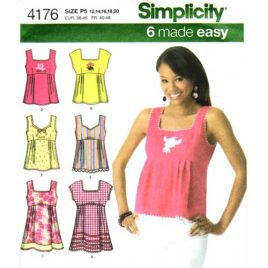 simplicity 4176 empire top sewing pattern