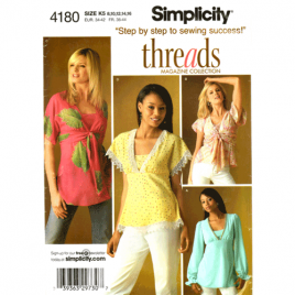 simplicity 4180 Threads Collection top sewing pattern