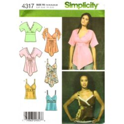 simplicty 4317 empire style top sewing pattern
