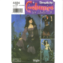 simplicity 4484 belly dancing costume pattern