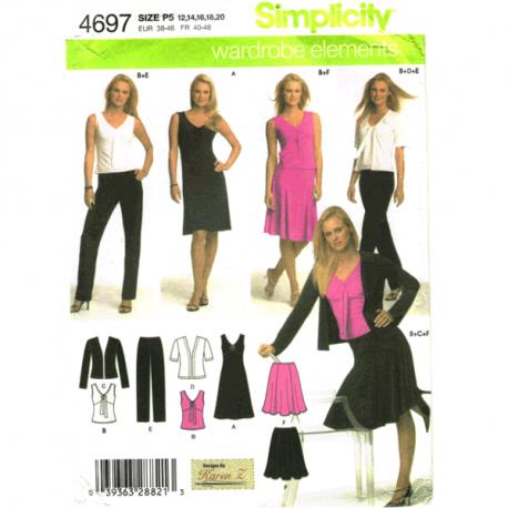 simplicity 4697 sportswear sewing pattern