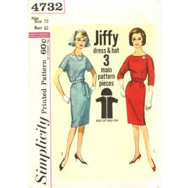 simplicity 4732 vintage dress sewing pattern