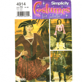 simplicity 4914 lady pirate costume pattern