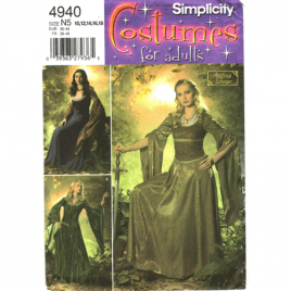 simplicity 4940 renaissance costume sewing pattern