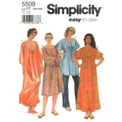 simplicity 5509 plus size nightgown sewing pattern
