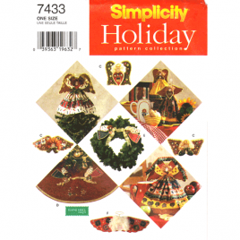 simplicity 7433 Christmas angels sewing pattern