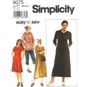 simplicity 9075 dress top pants plus size sewing pattern
