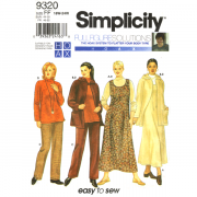 simplicity 9320 sportswear sewing pattern in plus sizes