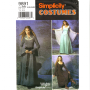 simplicity 9891 renaissance costume sewing pattern