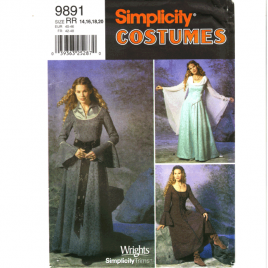 simplicity 9891 renaissance costume sewing pattern
