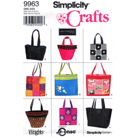 simplicity 9963 handbag sewing pattern