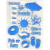 summer fun clear acrylic stamp sets
