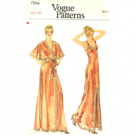 vogue 7254 nightgown and robe sewing pattern
