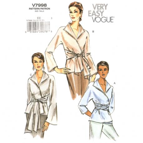 vogue 7998 wrap top sewing pattern
