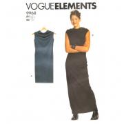 vogue 9968 close fitting dress sewing pattern