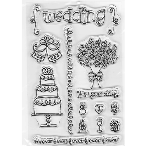 clear acrylic wedding stamps